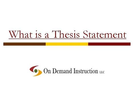 Pollution thesis statements